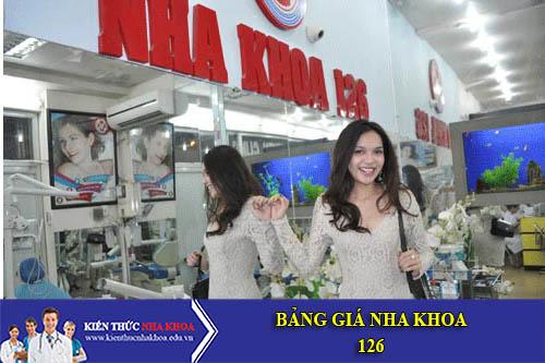 Bảng Giá Nha Khoa Thẩm Mỹ 126 - 126 Nguyễn Cư Trinh, Quận 1