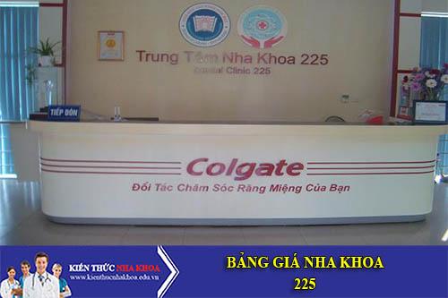 Bảng Giá Nha Khoa 225  - 225 Trường Chinh, Q. Thanh Xuân