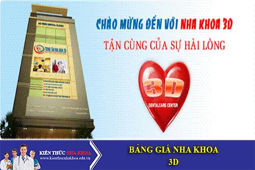 Bảng Giá Nha Khoa 3D Số 46 - 48 Đào Duy Từ,  P. 5,  Q.10