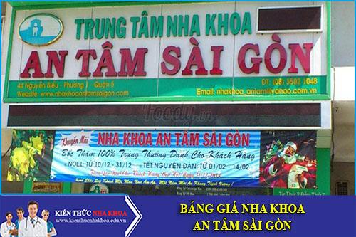 Bảng Giá Nha Khoa An Tâm Sài Gòn - 44 Nguyễn Biểu, P1, Q5
