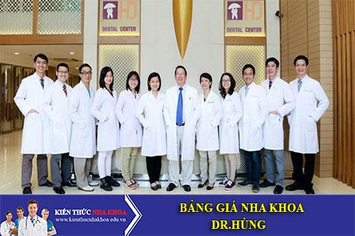 Bảng Giá Nha Khoa Dr.Hùng - 244A Cống Quỳnh Quận 1 TPHCM