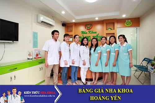 Bảng Giá Nha Khoa Hoàng Yến - 207 Nguyễn Trãi, P. Nguyễn Cư Trinh, Q. 1