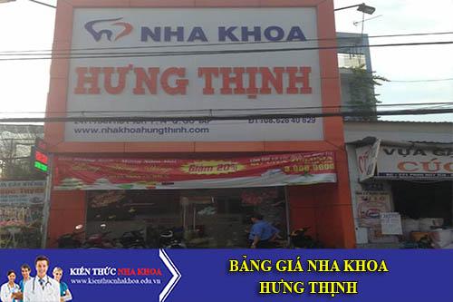 Bảng Giá Nha Khoa Hưng Thịnh - 241 Phan Huy Ích, P. 14, Q. Gò Vấp
