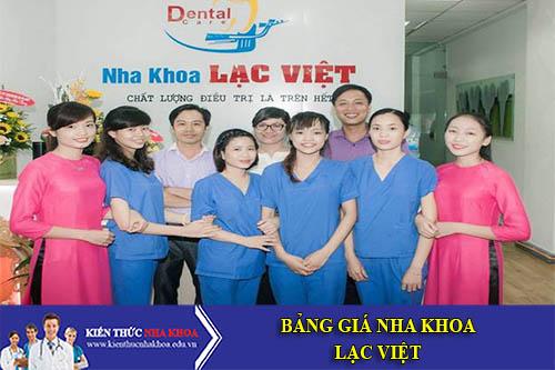 Bảng Giá Nha Khoa Lạc Việt - 280 Khương Trung, Khương đình, Thanh Xuân