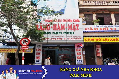 Bảng giá Nha Khoa Nam Minh - 61 Đường Nguyễn Lương Bằng - Q. Đống Đa