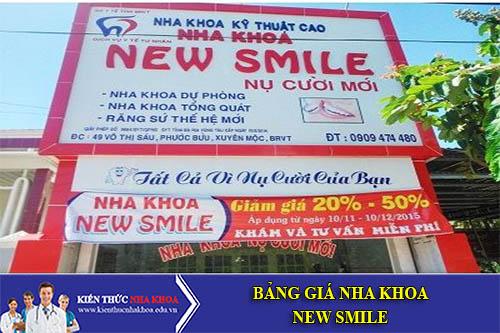 Bảng Giá Nha khoa NewSmile - số 31, lô 06, khu 4.1 CC, Nhân Chính, Thanh Xuân
