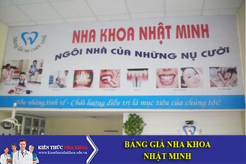 Bảng Giá Nha Khoa Nhật Minh - 662 Âu Cơ, Phường 10, Quận Tân Bình