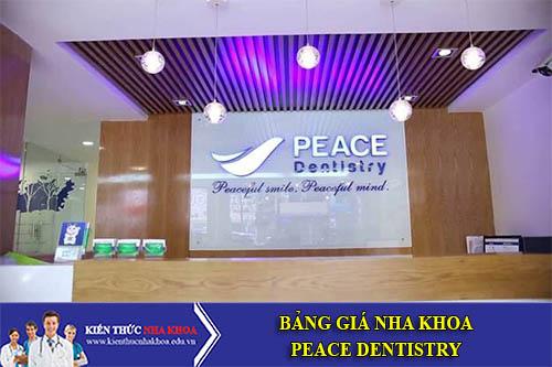 Bảng Giá Nha Khoa PEACE DENTISTRY - 565 Trần Hưng Đạo, P Cầu Kho, Q1