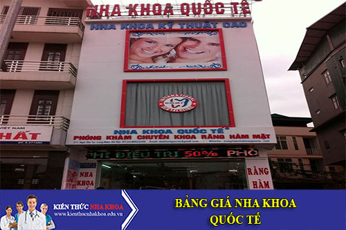 Bảng Giá Nha Khoa Quốc Tế - 371 Ngô Gia Tự - P. Đức Giang - Q. Long Biên