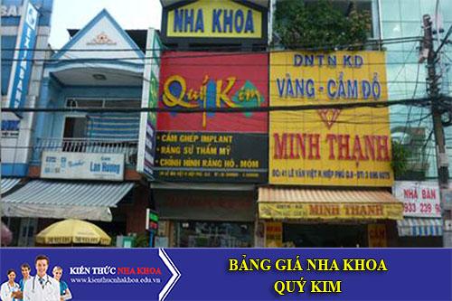 Bảng Giá Nha Khoa Quý Kim - 39 Lê Văn Việt , P Hiệp Phú