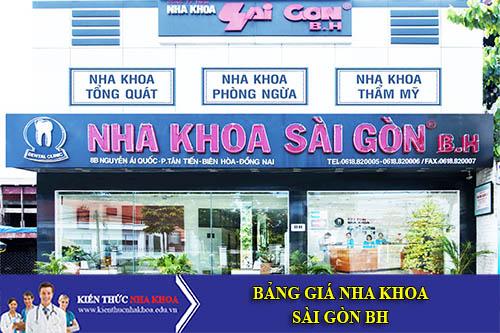 Bảng Giá Nha Khoa Sài Gòn B.H - 565 Trần Hưng Đạo, P Cầu Kho, Quận 1