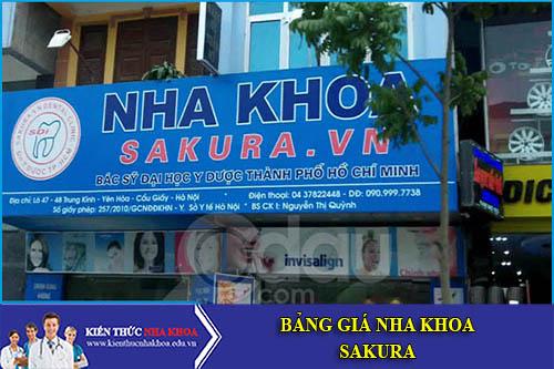Bảng Giá Nha Khoa Sakura - 69 (R4 - 14) Lê Văn Thiêm, Hưng Phước 3, Phú Mỹ Hưng