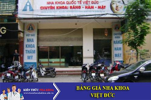 Bảng Giá Nha Khoa Quốc Tế Việt Đức - 84A Hai Bà Trưng, Hoàn Kiếm, Hà Nội
