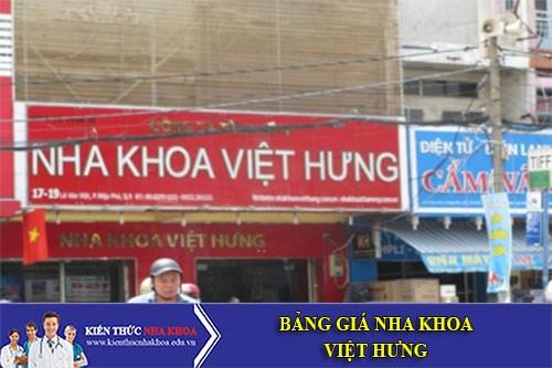Bảng Giá Nha Khoa Việt Hưng - 7-19 Lê Văn Việt, P. Hiệp Phú, Q. 9