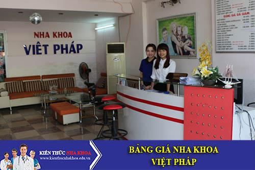 Bảng Giá Nha Khoa Việt Pháp Số 367-367 A Phan Đình Phùng, P15, Q. Phú Nhuận