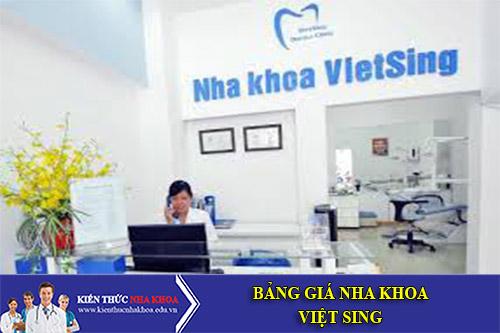 Bảng Giá Nha Khoa Việt Sing - 247 Trần Đại Nghĩa, Hai Bà Trưng, Hà Nội