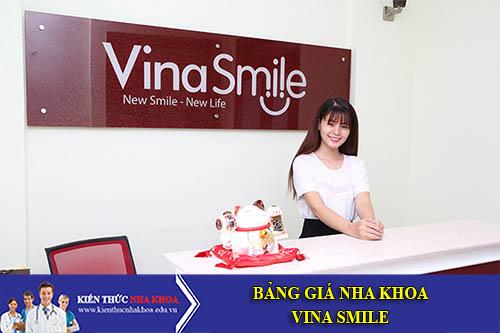 Bảng Giá Nha Khoa VinaSmile - 797-799 Âu Cơ, P. Tân Thành, Q. Tân Phú