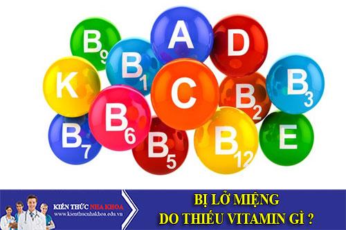 Lở Miệng Do Thiếu Vitamin Gì ?