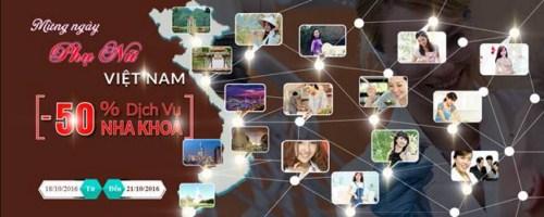 Nha khoa Đông Nam Khuyến Mãi HOT Nhân Ngày Phụ Nữ 20 Tháng 10