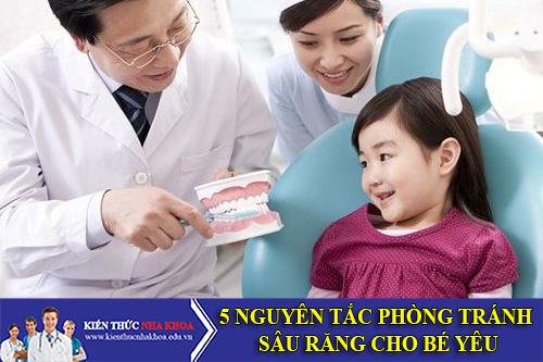 5 Nguyên Tắc Phòng Tránh Sâu Răng Cho Bé Yêu
