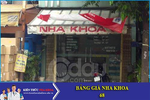 Bảng Giá Nha Khoa 68 - A6 - TT10 Nguyễn Khuyến - KĐT Văn Quán - Hà Đông