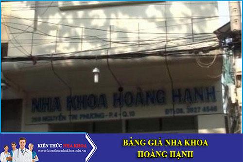 Bảng Giá Nha Khoa Hoàng Hạnh - 268 Nguyễn Tri Phương, 4, Quận 10