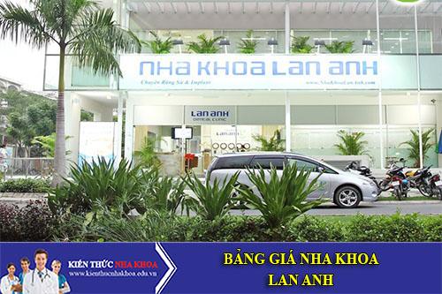 Bảng Giá Nha Khoa Lan Anh - 292 Huỳnh Văn Bánh, P.11, Q.Phú Nhuận