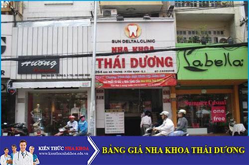 Bảng Giá Nha Khoa Thái Dương - 264 Hai Bà Trưng, P.Tân Định, Quận 1