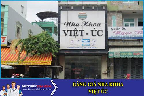 Bảng Giá Nha Khoa Việt Úc - 630 Trường Chinh- Ngã tư sở – Đống Đa
