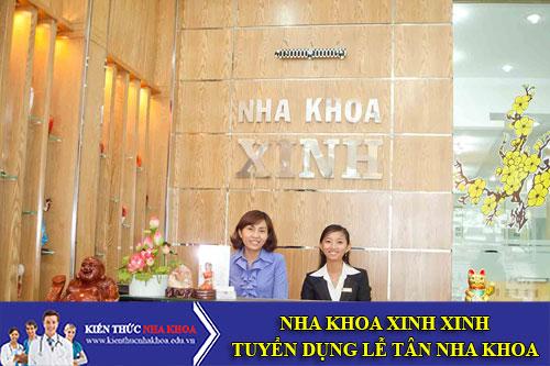 Nha Khoa Xinh Xinh Tuyển Dụng Lễ Tân Nha Khoa Làm Việc Tại Tp.Hcm