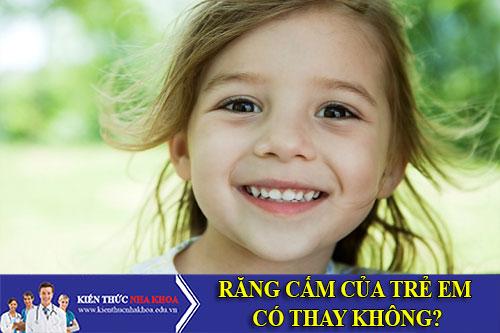 Răng Cấm Của Trẻ Em Có Thay Không?